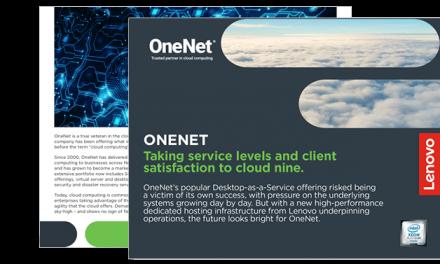 OneNet – Leaning on Lenovo to improve desktop performance