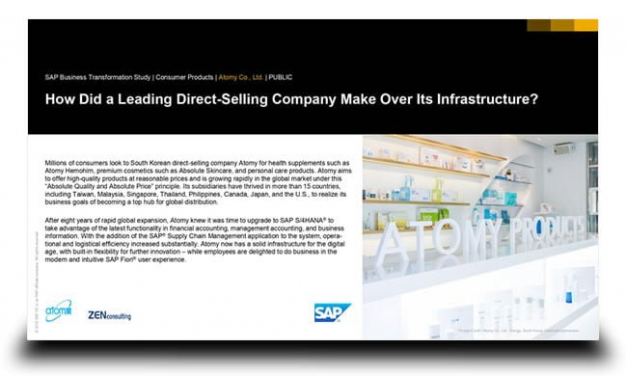 How a direct-selling company make over its infrastructure