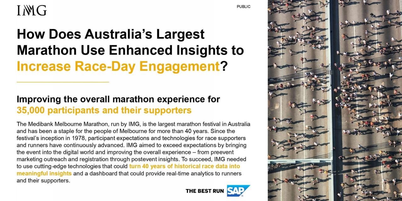 Australia's largest marathon uses enhanced insights for better race-day engagement