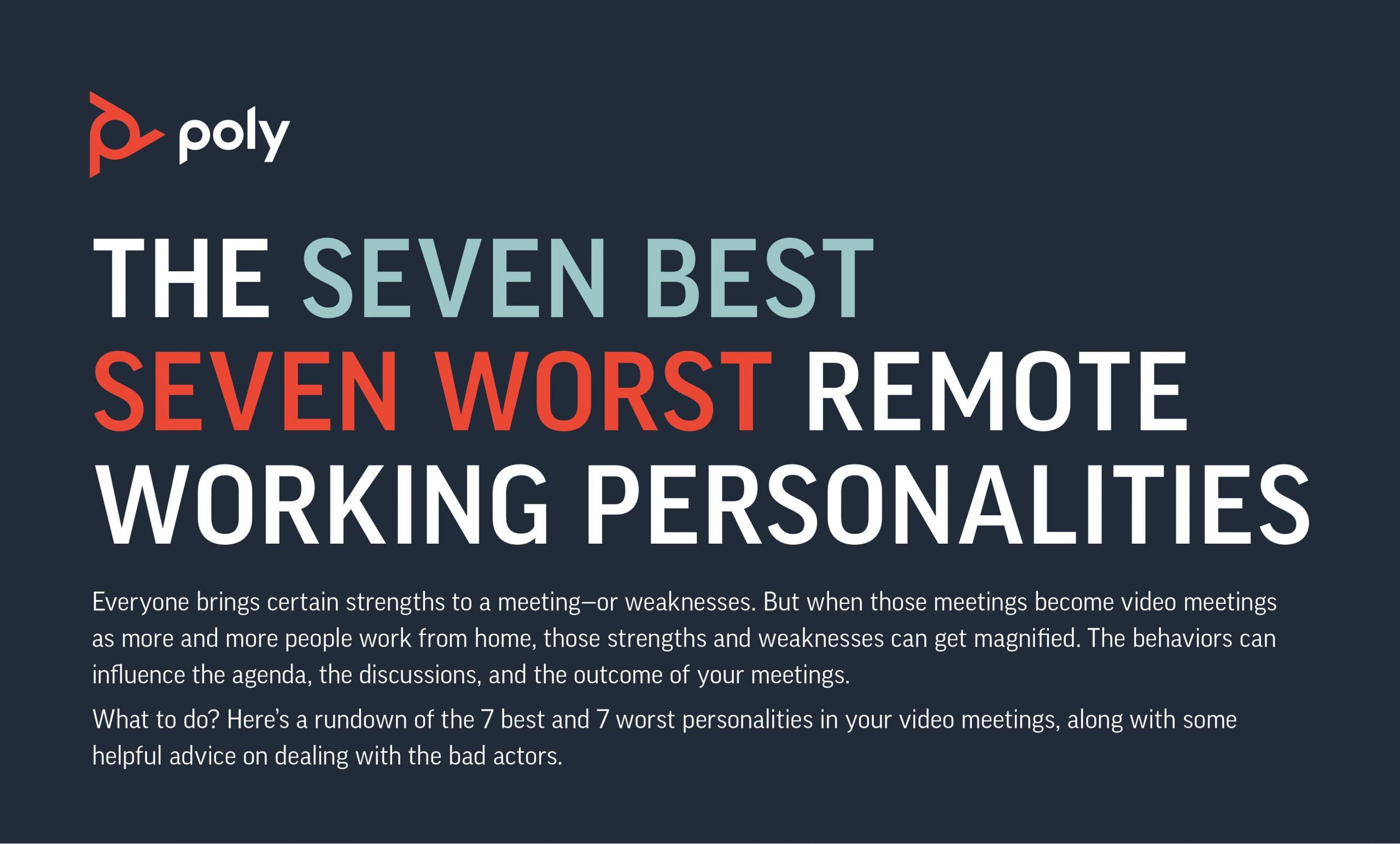 The 7 best and 7 worst remote working personalities