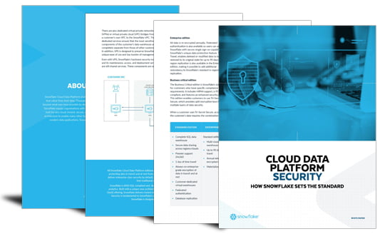Setting the benchmark in cloud data platform security