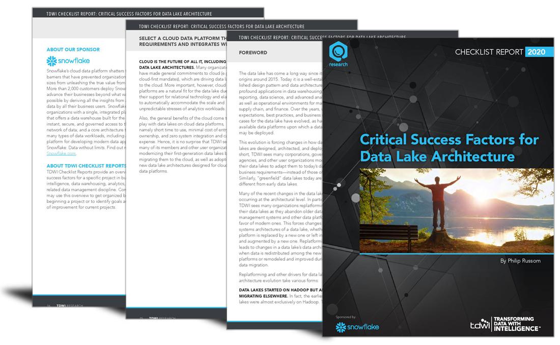 Critical factors that will determine data lake architecture success