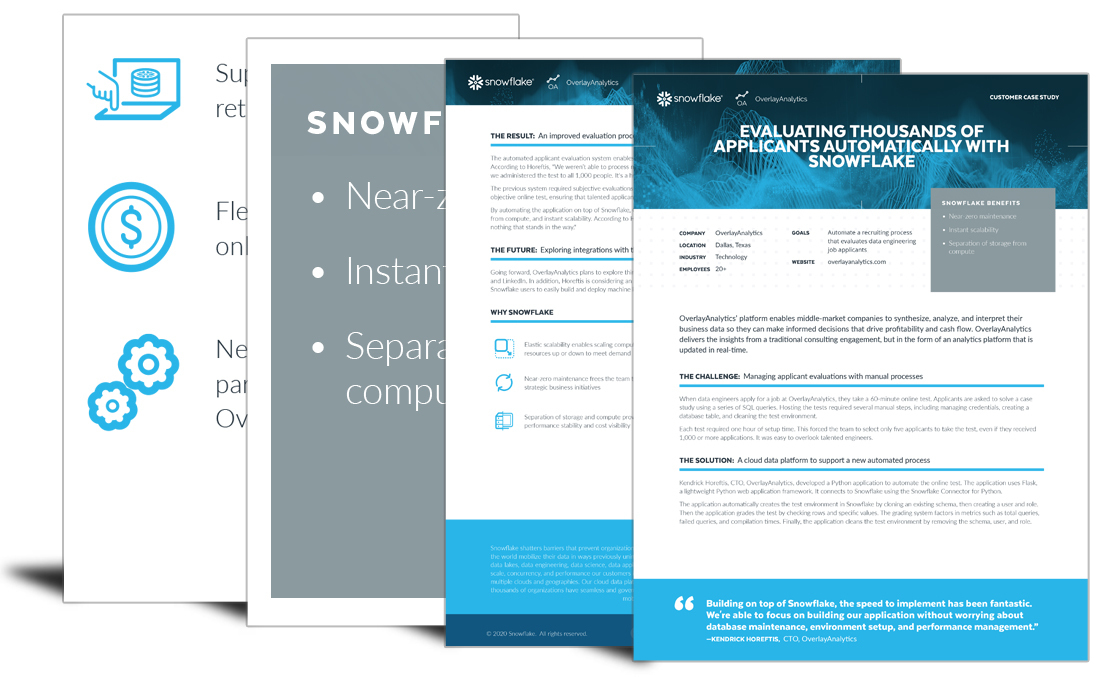 Evaluating Thousands of Applicants Automatically with Snowflake