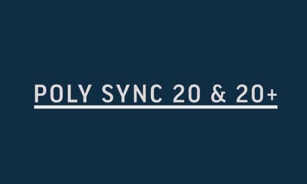 Poly Sync 20 & 20 +